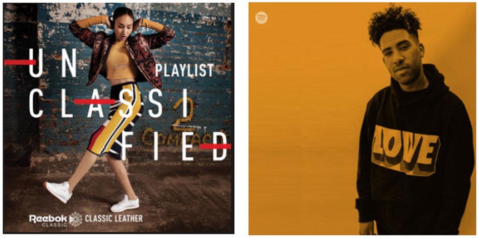 © Reebok playlists : Spotify