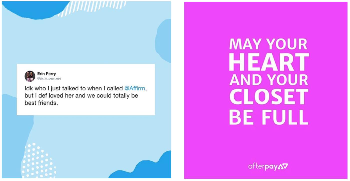 Affirm + AfterPay : Instagram