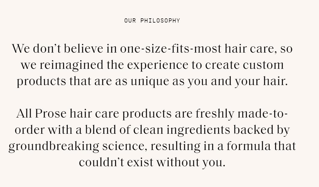Brand Manifesto : Prose