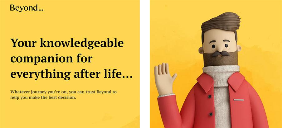 FuneralBooker, rebaptisé Beyond par l'agence SomeOne (Royaume-Uni)