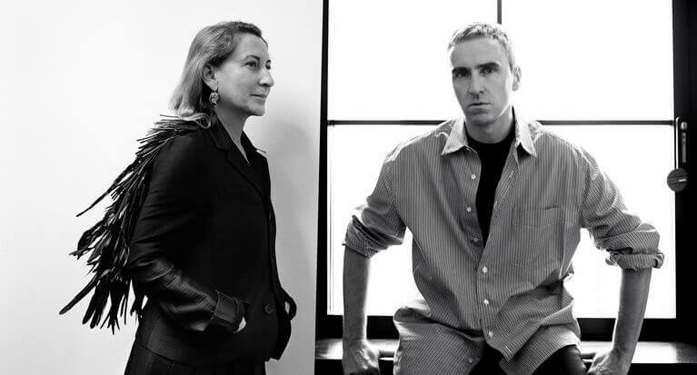 Raf Simons et Miuccia Prada