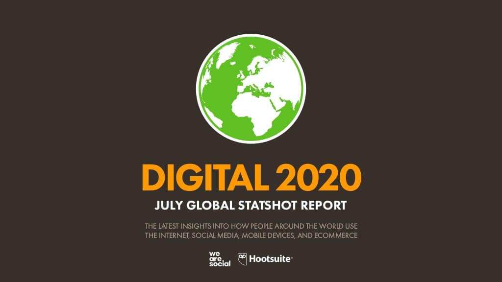 Les chiffres clés d'Internet et des réseaux sociaux dans le monde en juillet 2020. ©Hootsuite We Are Social