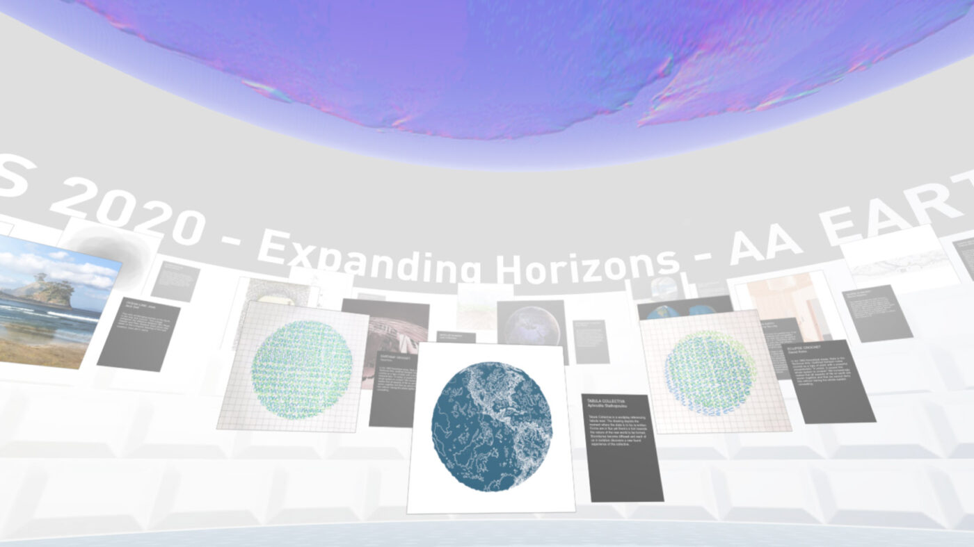 Space Popular created the virtual reality art gallery for the AA
