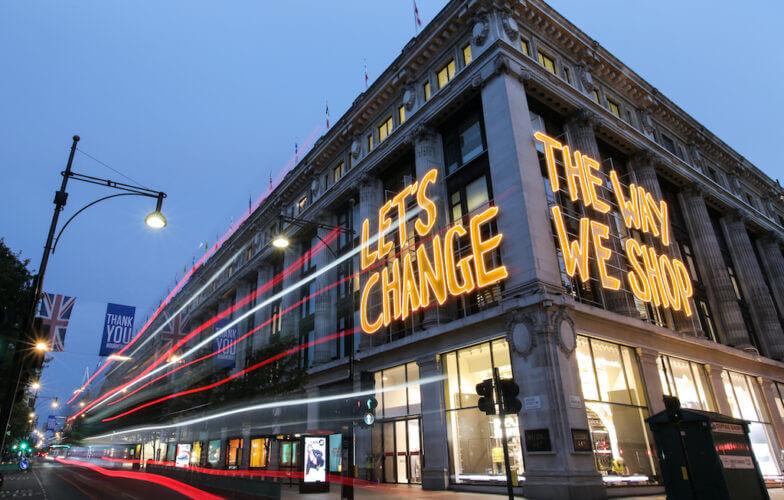 SELFRIDGES-Lets-Change-The-Way-We-Shop-Facade-1
